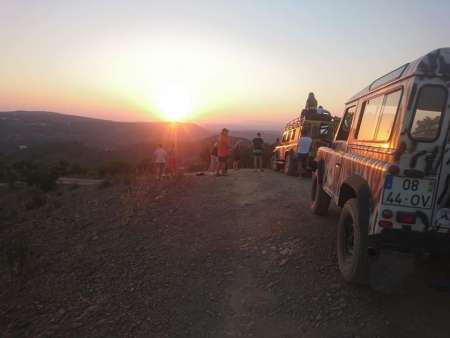 From Albufeira: Sunset Jeep Tour In The Algarve Mountains With Liquor Tastings & Dinner
