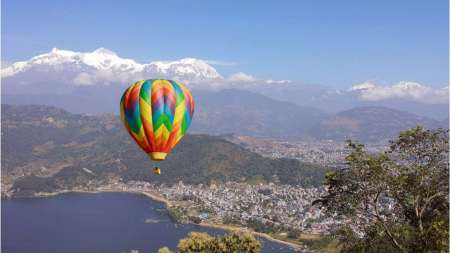 1-Hour Hot Air Ballooning Flight In Pokhara, Nepal