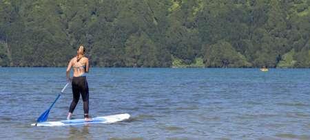 Sao Miguel Island: Location De Stand Up Paddle Sur Le Lagon De Sept Villes