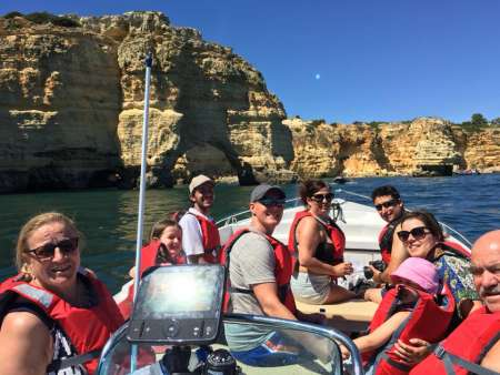 From Portimão: Private Boat Tour To The Benagil Grotto And Marinha Beach