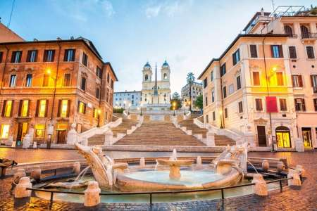 Rome: Highlights & Food Walking Tour With Italian Buffet-Dinner