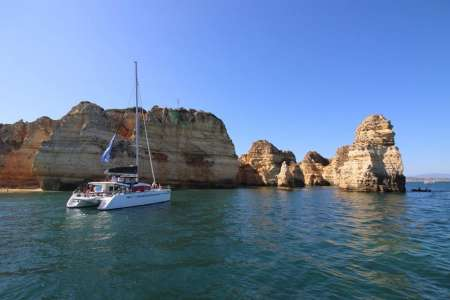 Lagos: Private Half-Day Tour On Luxury Catamaran With Watersports