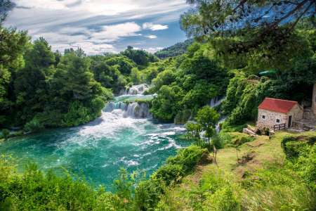 From Split: Tour To Krka Waterfalls & Sibenik With Wine Tasting