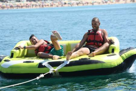Ride On Krazy Sofa Boat In Armação De Pêra Beach