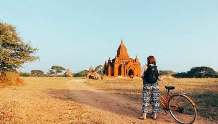 Bagan: Half-Day Bike Tour And Boat Ride At Sunset