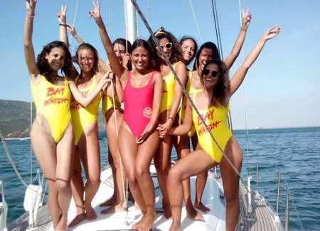 From Arrábida: 3 Hours Catamaran Rental For Bachelorette Party