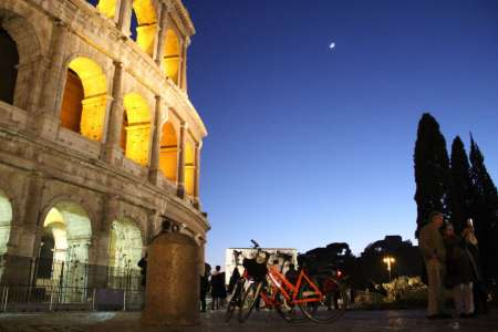Rome By Night: Guided Bike Tour And Pizza Dinner