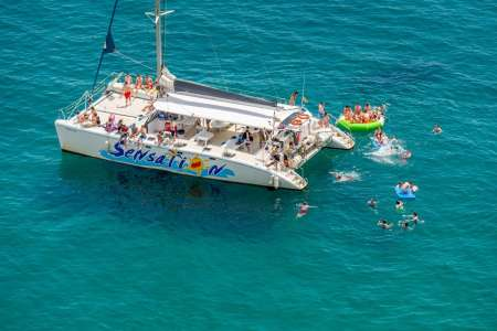 Barcelona: 3-Hour Boat Party On Catamaran With Lunch