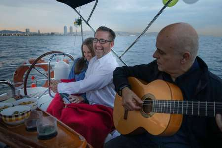 Barcelona: Sailboat Tour At Sunset With Live Spanish Guitar, Drinks And Snacks