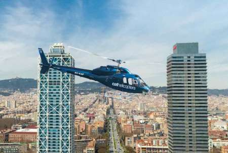 Barcelona: Helicopter Flight And Sailboat Tour
