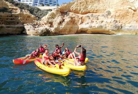 Algarve: Kayaking And Cliff Jumping Experience In Carvoeiro