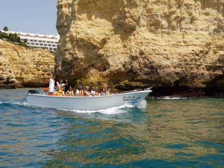 From Carvoeiro: Boat Tour To The Benagil Cave And Marinha Beach