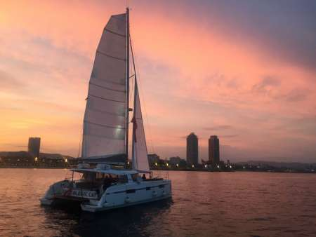Best Sunset Of Barcelona: 90-Minute Catamaran Tour