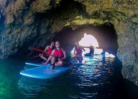 Stand Up Paddle Tour Dans Les Grottes Et Les Falaises D'Albufeira