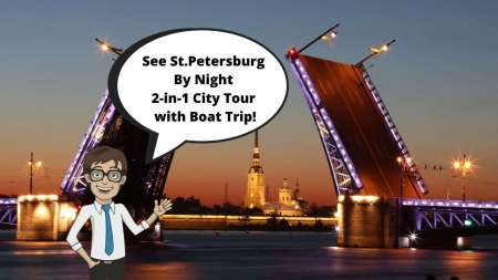 St. Petersburg: Night Tour And River Cruise With Bridge Opening