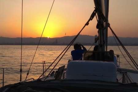 Sunset Sailboat Cruise In Barcelona