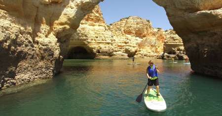 From Portimão: Boat Tour With Stand Up Paddle (sup) Tour Inside The Benagil Caves