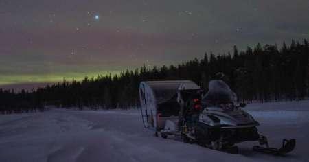 Vip Aurora Ride With Snowchalet In The Finnish Lapland