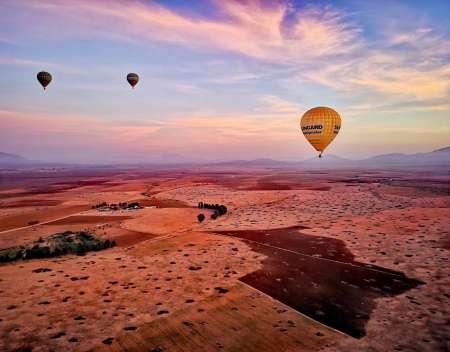 Vol En Montgolfière Au-Dessus De Marrakech Avec Petit-Déjeuner