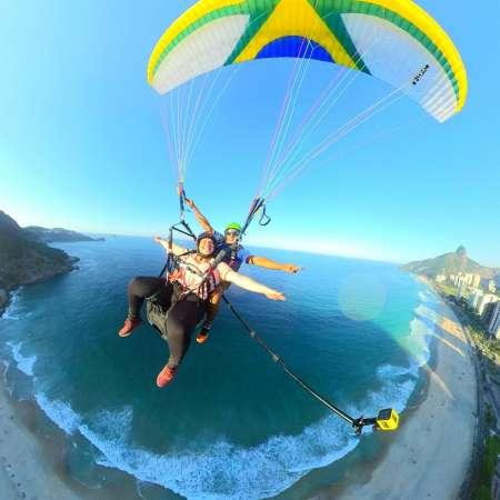 Paragliding And Hang Gliding In Rio De Janeiro From Pedra Bonita
