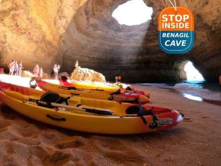 2H30 Boat And Kayak Tour To The Benagil Caves – Departs From Portimão Marina