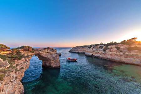Albufeira Sunset Boat Tour To The Benagil Cave