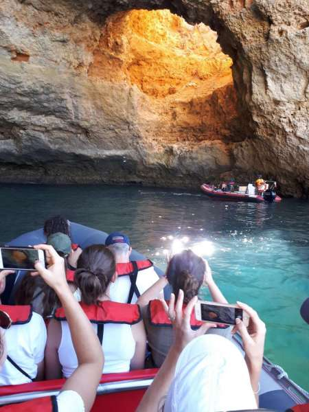 From Portimão: 2-Hour Private Benagil Caves Boat Tour